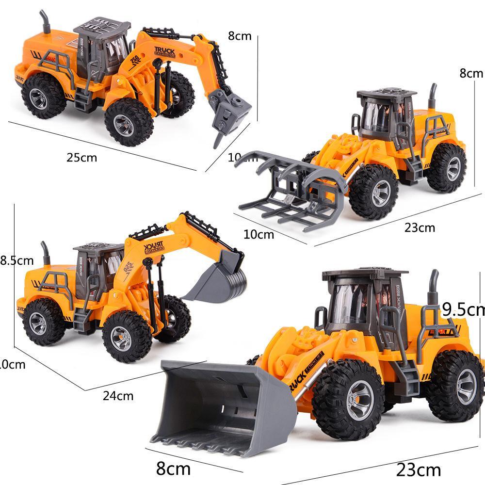 Новый RC бурения Грузовика для детей Crane Bulldozer дистанционного управления экскаватором Электрического Строительство игрушка Y200414