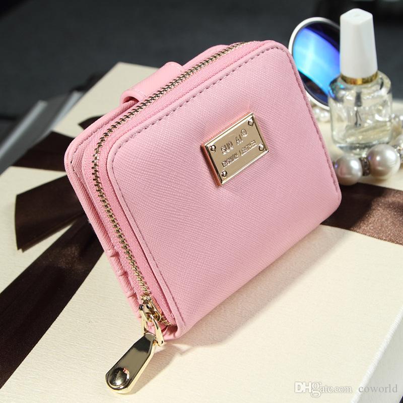 حافظات إمرأة صغيرة rfid السيدات محفظة bifold مع سستة عملة جيب مصغرة محفظة لينة مضغوط رقيقة