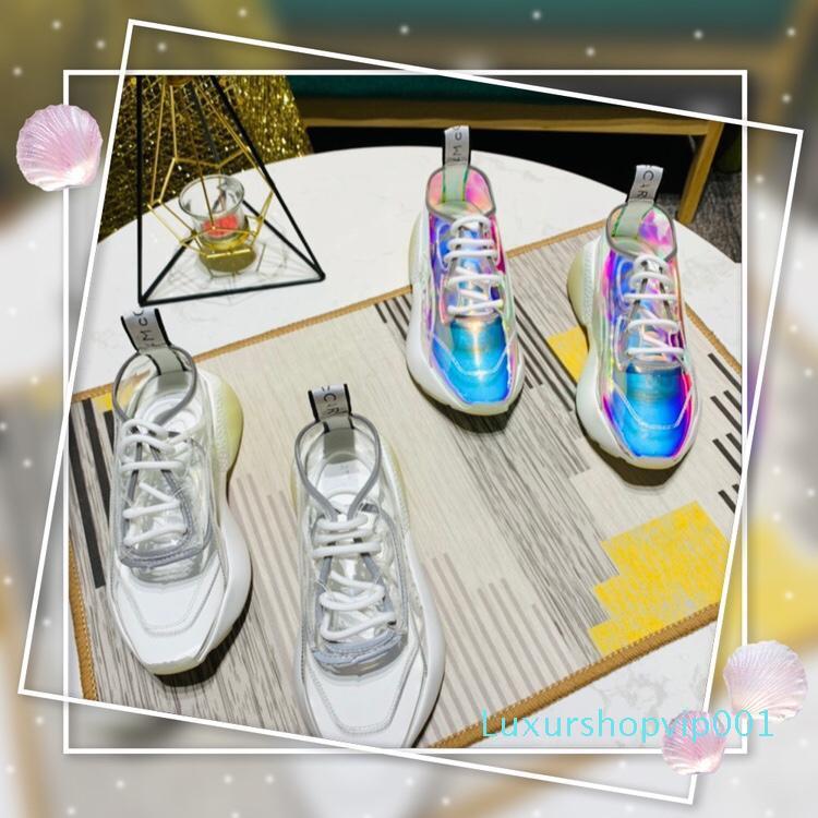 Moda Mccartney cómodo de las mujeres zapatos perfectos Oficial aumentó Eclypse Plataforma Stella zapatillas de deporte de la calidad del diseñador de lujo de zapatos Nueva S07
