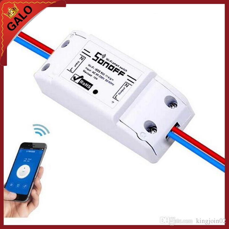 Sonoff Basic Wireless Wifi Switch للتحكم عن بعد في وحدة أتمتة المنزل الذكي من خلال IOS Android مع دليل المستخدم