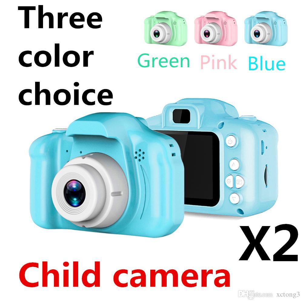 Kamera der Kinder X2 MiniDigitalkamera 1080P DH 2 Zoll Karikatur-nettes Kamera-Spielzeug das beste Geschenk für Kind-Kleinkind DHL geben Verschiffen frei