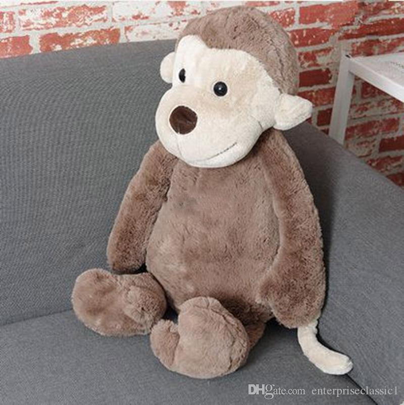 30 '' / 75 centímetros New dos desenhos animados Plush Macio gigante macaco animal boneca agradável caçoa o presente frete grátis