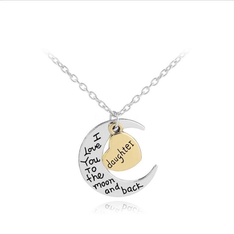 Mode Double Pendentif Cercle Collier Couple Lettre Interlocking Hoop Charm Infinity Collier éternité Meilleur cadeau St Valentin-Y # 238