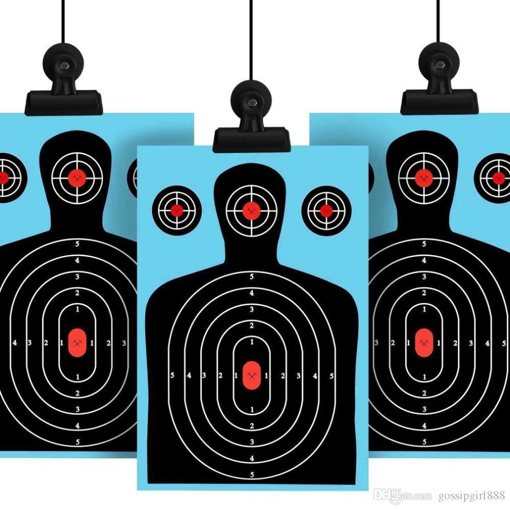 ПВХ прямоугольные синие и зеленые мишени для стрельбы 12 * 18 силуэт брызги реактивные бумажные мишени флуоресцентная винтовка пистолет страйкбол гранулы пистолет