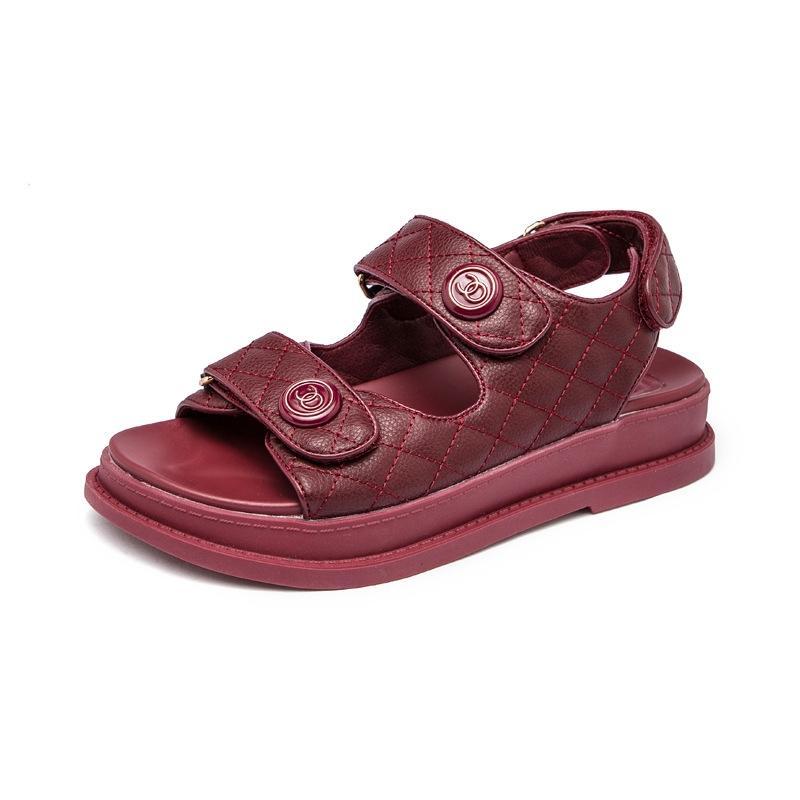 Été Pvc Sandales Femmes Flats Transparent Chaussures Grande Taille Femme claires Chaussures Avec Rivet Ladies Beach Roman Sandalias Mujer T13 # 789