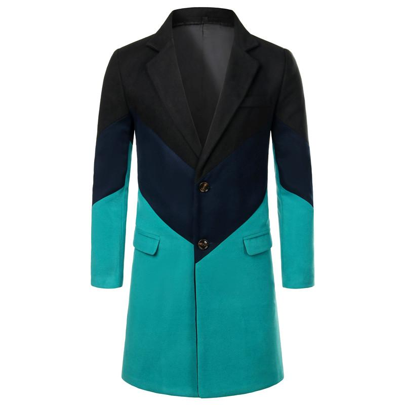 Winter men woolen long coat large size 5xl high quality long jacket business casual mens jackets and coats