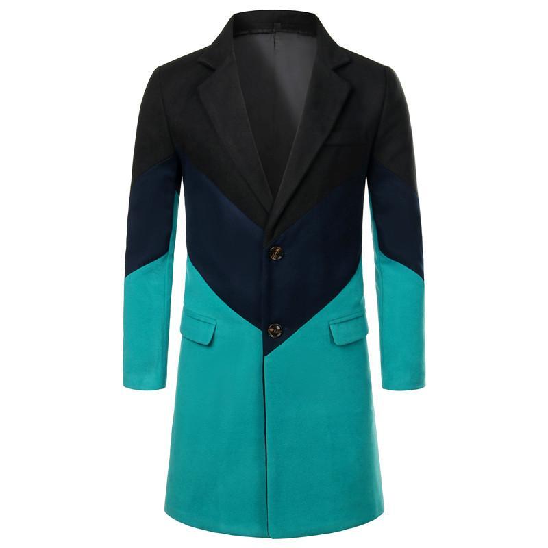 Kış erkekler yüksek kaliteli uzun ceket iş rahat erkek ceket ve palto 5XL uzun ceket büyük boyutu yünlü