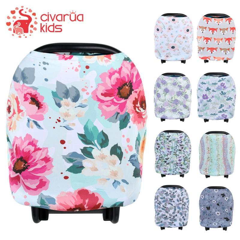 High Chair Baby Car Seat Canopy Carseat Covers Stretchy Spacious Soft Breathable Multi-Use Carrier Cover Up for Stroller Nursing Cover Mom Breastfeeding Scarf Shawl Shopping Cart