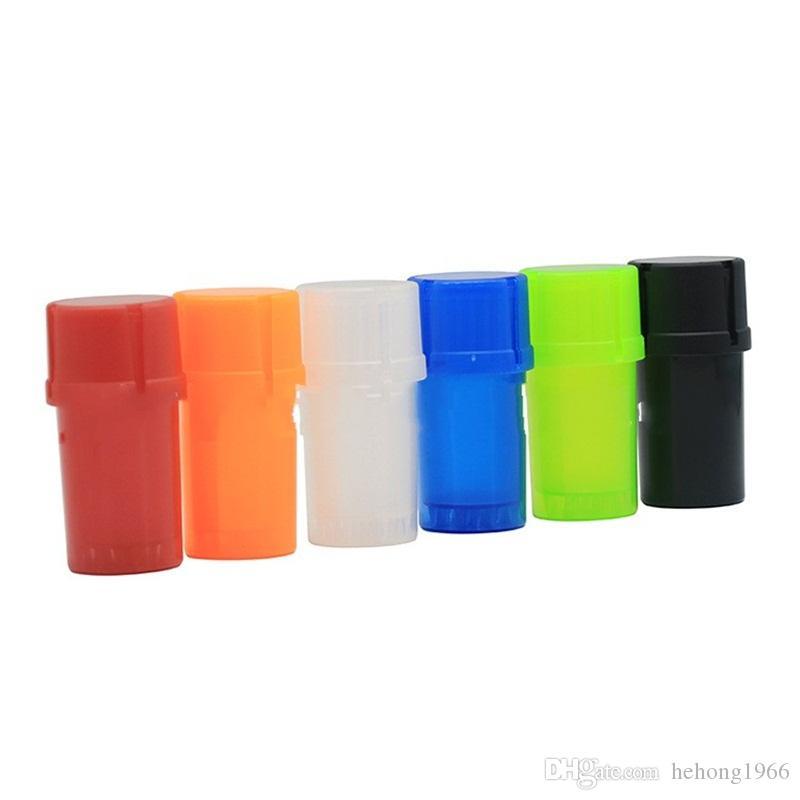 Garrafas de plástico Herb Grinder Forma 3 camada de água hermético apertado caixa do comprimido Recipiente fumadores seco Herbal Grinders Acessórios de Viagem 2yh E1