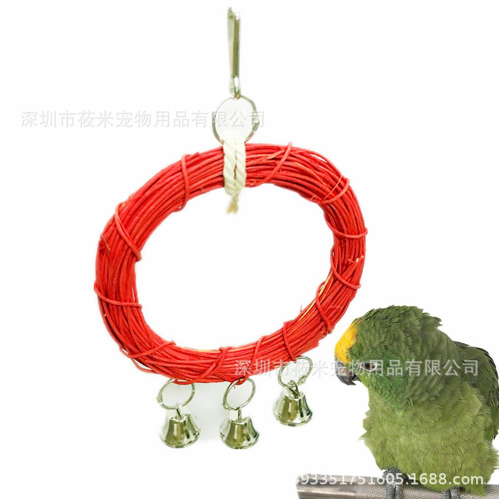 Parrot Toys Vine Circle Swing Toys Gnaw Toys Stand Frame Suspension Bridge Cage You Parts Cross Border