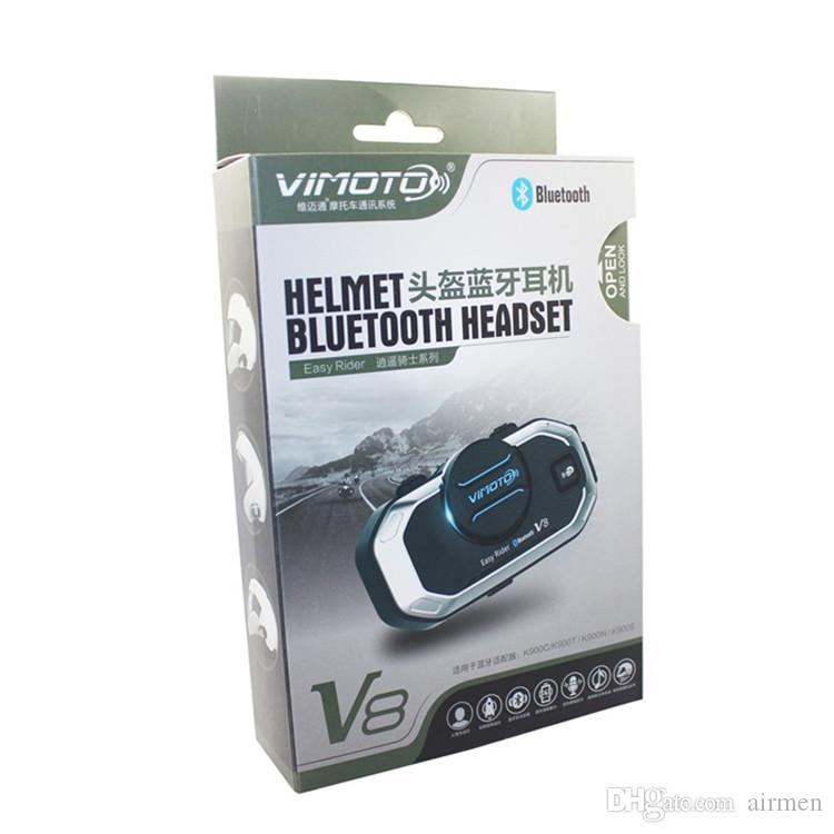 Easy Rider vimoto V8 Motorcycle Helmet Bluetooth Headset Motorbike Intercom Stereo Headphones BT Interphone GPS 2 Way Radio