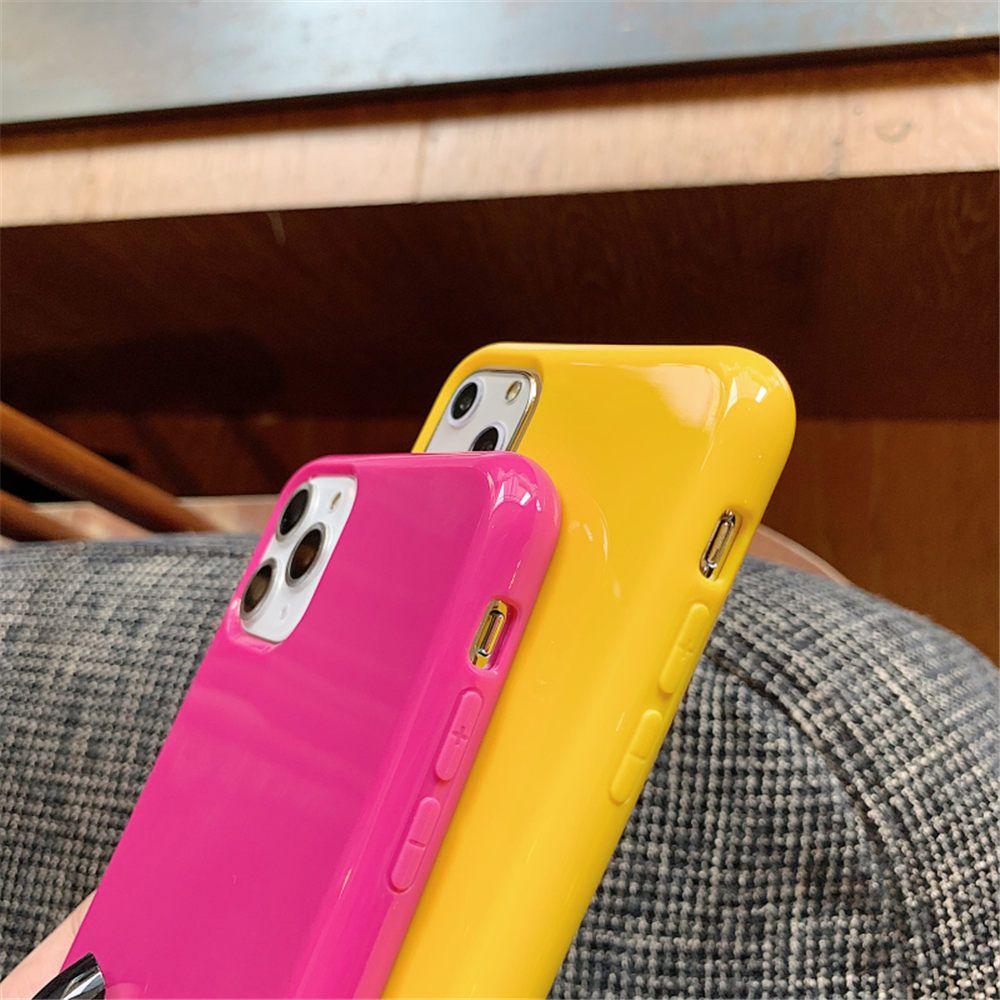 Mode-Süßigkeit-Farben-Telefon-Kästen für iPhone 11 Pro Max XR XS 8 7 Plus-Simple Plain Farbe weicher TPU Fall-rückseitige Abdeckung