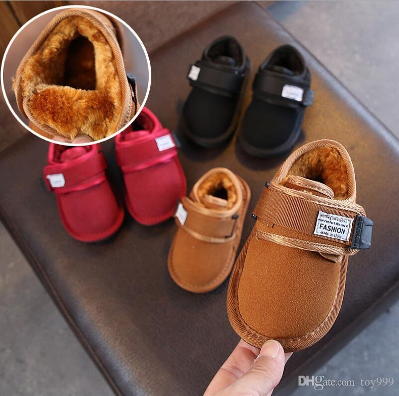 Dei nuovi bambini di Winter Snow Boots Australia stile impermeabile in pelle di mucca pelle scamosciata ragazze di inverno all'aperto Stivali Marca Dimensioni EUR 21-30