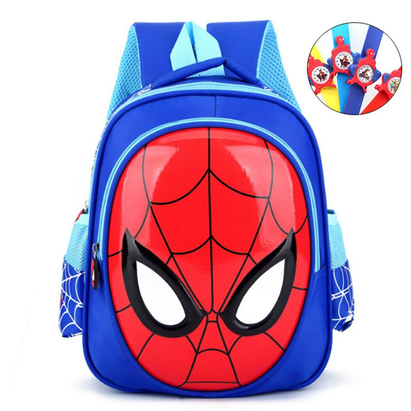 Spider Man Kids Cartooon School bag Shoulders Bag Boys Backpack Rucksack Gift