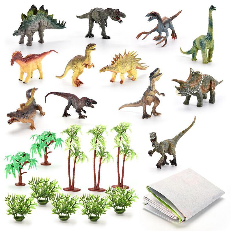 TW2004025 Dinosaur Set Funny Educational Toy Animal Toy Cheap Promotional Gift simulation figurine toy mini dinosaur model set