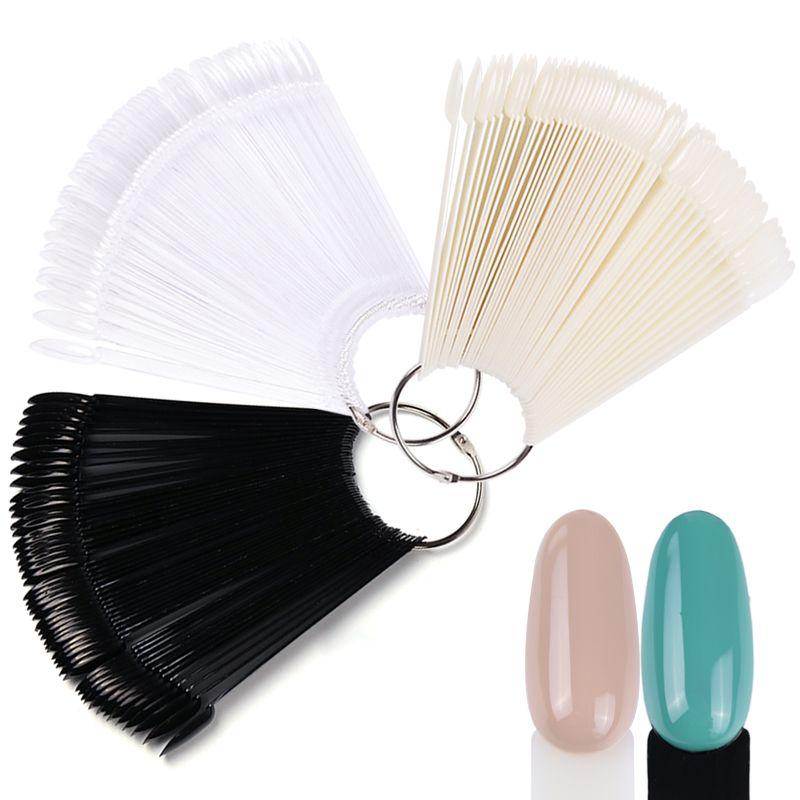 False Nail Tips Color Display Fake Nails Round Fan Board Styles Art Gel Polish Tools Set Manicure Training Tra23