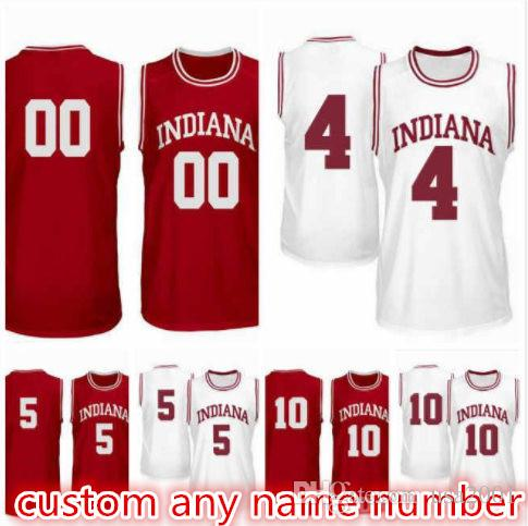 Rob Phinisee 10 Evan Fitzner 55 Rennen Thompson 25 Jake Forrester 4 Quentin Taylor 5 Indiana Hoosiers Mann Jugend-Basketball Jerseys S-5XL