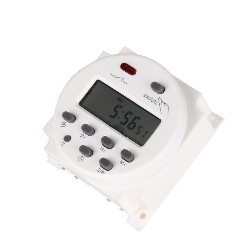 التبديل الرقمية LCD الوقت قوة التقوية 8A TO 16A 10A TIMER CN101 البسيطة الموقت AC 12V 24V 220V 240V 7DAYS الأسبوعية للبرمجة