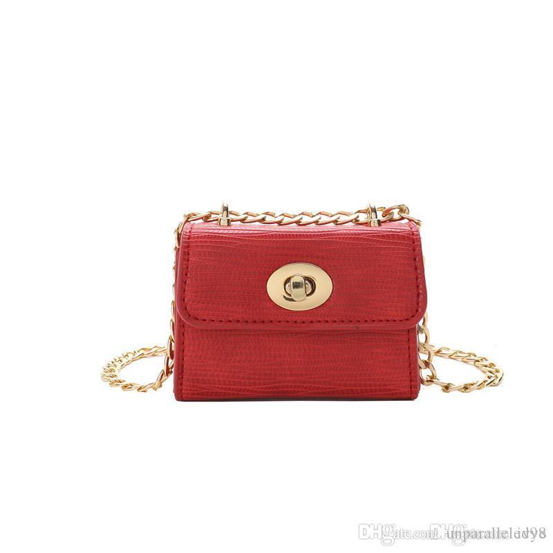 Недавно 2018 Мода тенденция простые дети сообщение сумка девушка принцесса цепи сумка блесток небольшой мешок партии