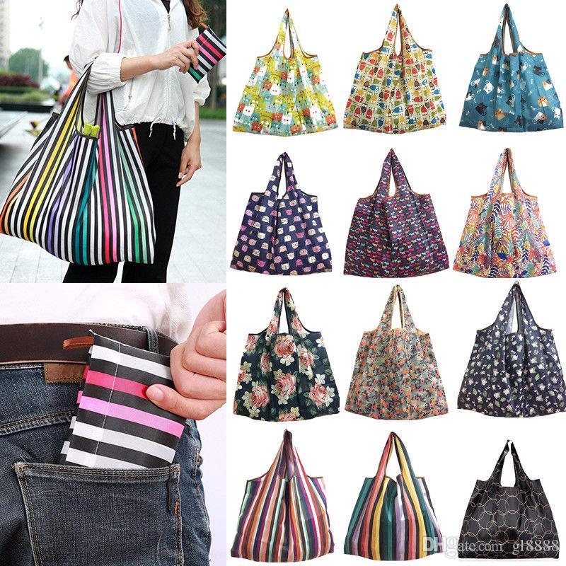 للجنسين طوي هاندي حقيبة تسوق قابلة لإعادة الاستخدام حمل الحقيبة سلة ماء حقائب التخزين عينة حقيبة السفر