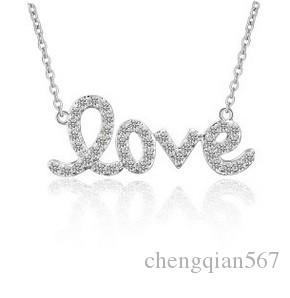 edel hohe qualität niedriger preis kristall diamant buchstaben braut halskette anhänger (12.38dffgd