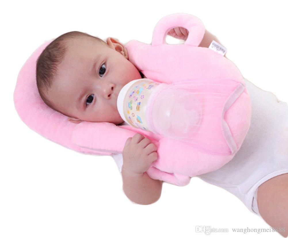قابل للغسل مفيدة مكافحة لفة منع رئيس شقة دعم الرقبة رغوة الذاكرة الوليد الرضيع الطفل التمريض بلون وسادة وظيفية