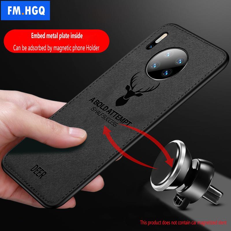 Paño caliente de la textura de los ciervos 3D TPU caja del coche magnético para Huawei mate 30 imán incorporado caja del panel para Huawei mate 30 Pro Cubierta