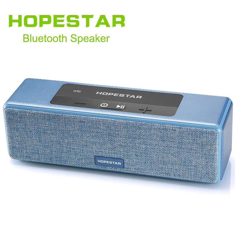 1pcs HOPESTAR A5 Bluetooth Wireless Speaker Waterproof Outdoor Bass Effect Home Theater Power Bank For TV Phone Xiaomi NFC TF USB DHL