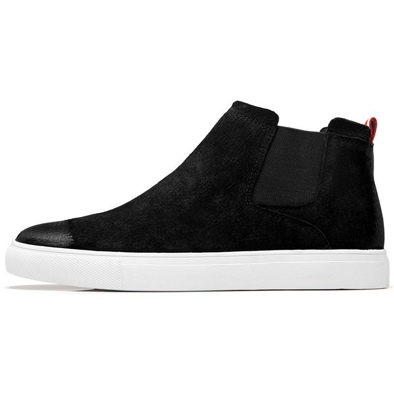 Scarpe casuali Stivali piatti nuovi uomini di pelle Stivaletti British Style Uomo Boots Suede