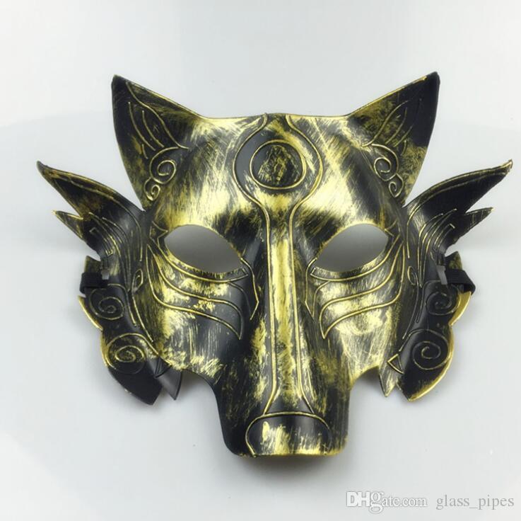 Толстая маска волка костюм ужаса волки маски Хэллоуин маскарадные маски украшения партии взрослых детей маска LXL689A