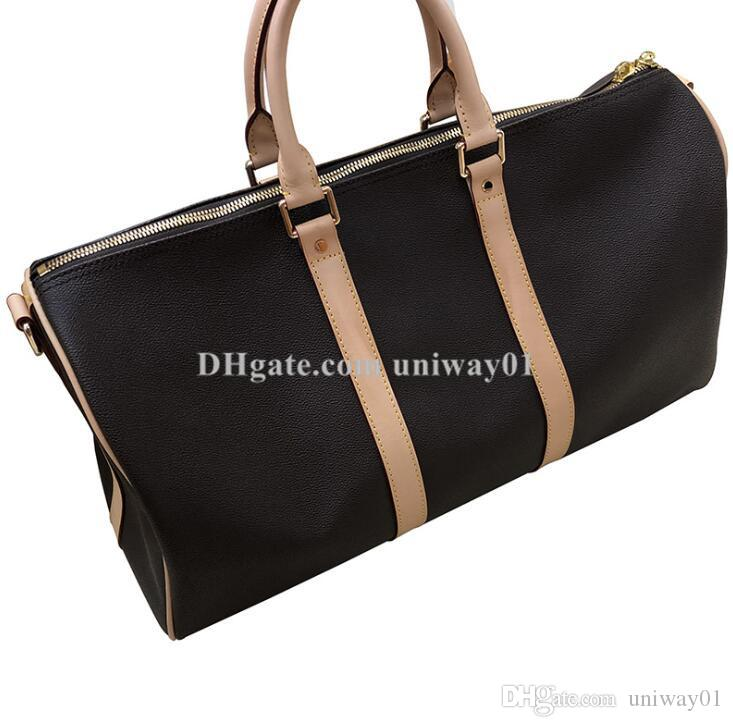Vera pelle di alta qualità Big gran numero di serie caso borsa da viaggio duffle donna donne uomo borsa di marca del progettista Tote
