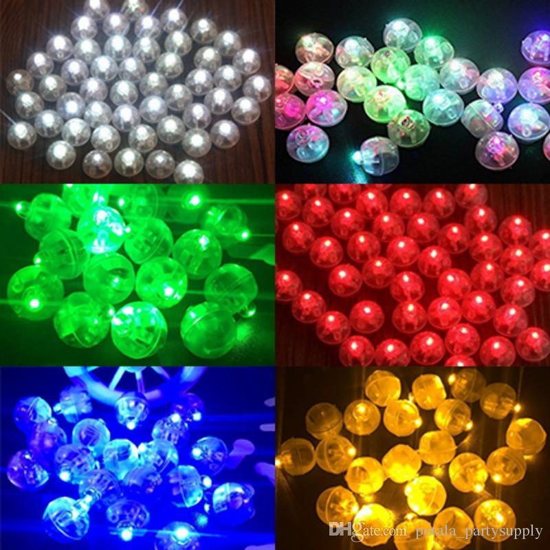 Round LED balloons RGB Luminous Flashing balls Mini glowing Lantern Lamps for Wedding Party birthday Air Decoration Colorful Lights Flashing