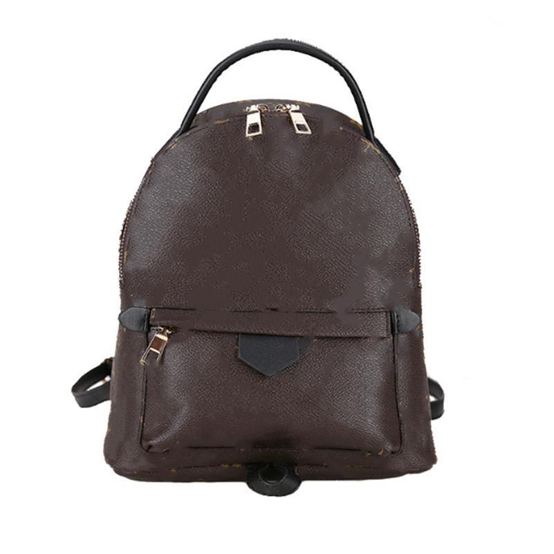 Frauen PU-Leder Rucksack Druck unisex Schulranzen Tasche Mini-Tasche Reißverschluss Zwei Schultertasche Handtasche Versatile scool Taschen 0171 freies Verschiffen