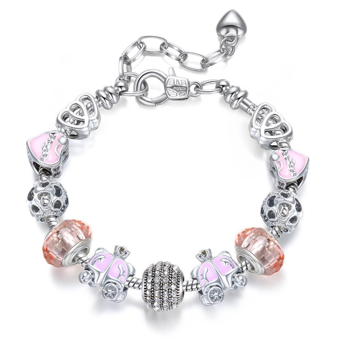 925 Making Silver drop oilCharm Beads Bracelets For Women Silver European Bracelets & Bangles Femme Bridal Wedding Fine Jewelry