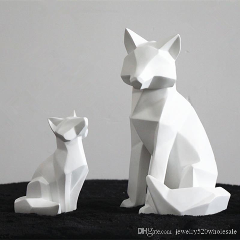 White Abstract Animal Sculpture Ornaments Simple Geometric Modern Home Decorations Animal Statues Wholesale Fragrance Lamps Alexandria Oil Lamps From Jewelry520wholesale 31 21 Dhgate Com