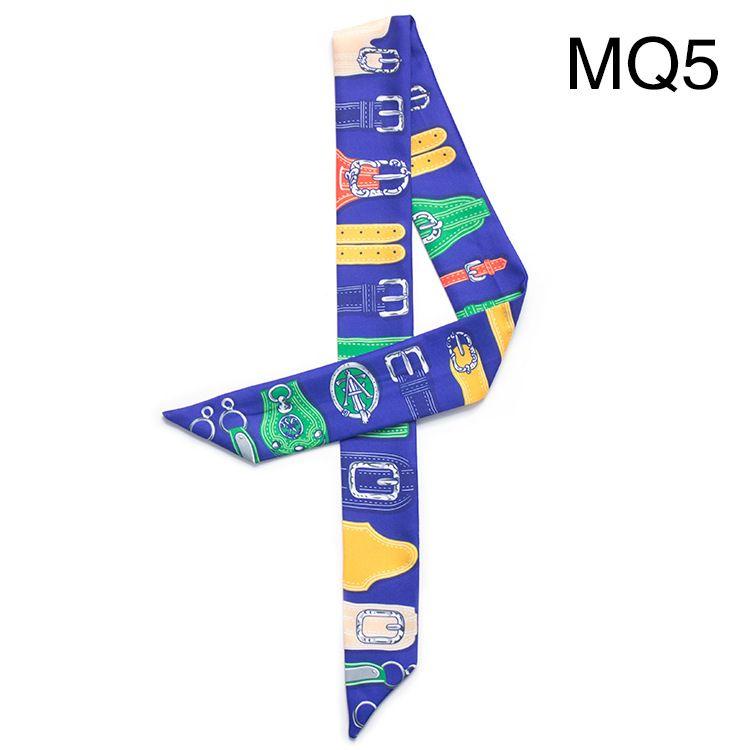 Narrow Long Scarf Belt Design Ribbon Woman Bag Handle Ribbon Hairband Shawl Scarf Headscarf Tied Hat Scarves Wristband Bracelet Wholesale