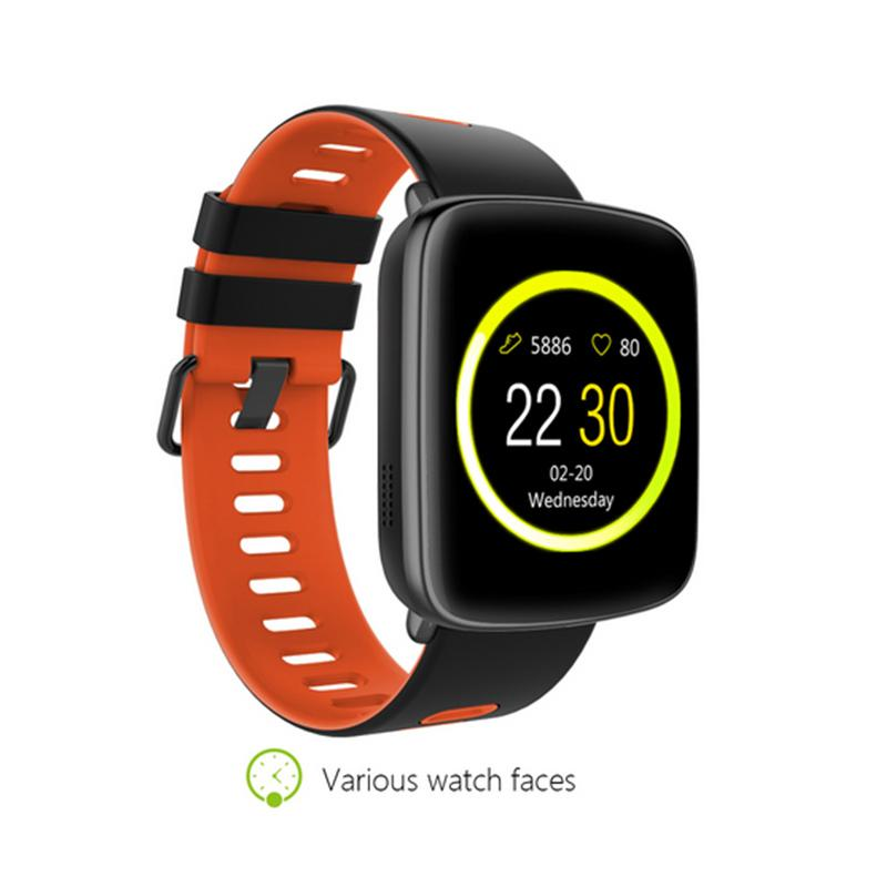GV68 Bluetooth Smart Watch Wrist BLE 4.0 IP68 Waterproof IPS 1.22 Big Screen Fitness Tracking Watch