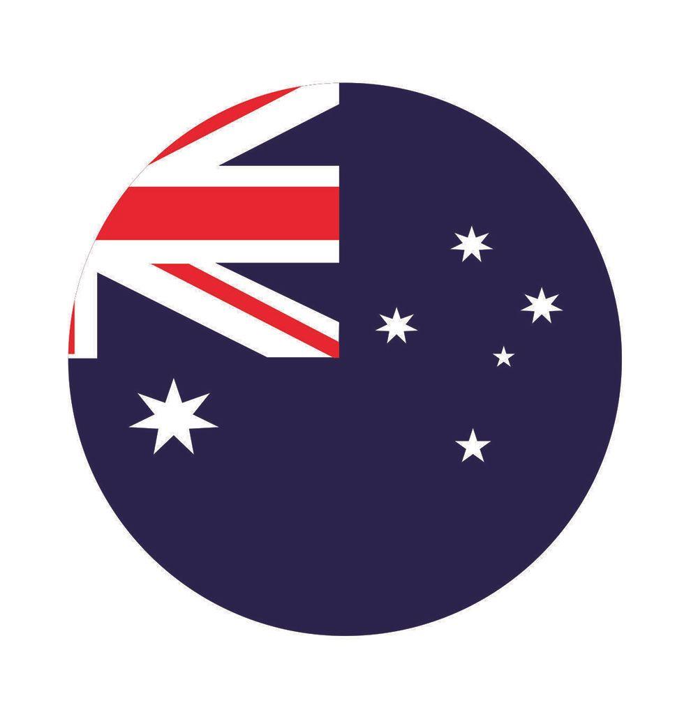 Calcomanías Decorativas banderas australiano