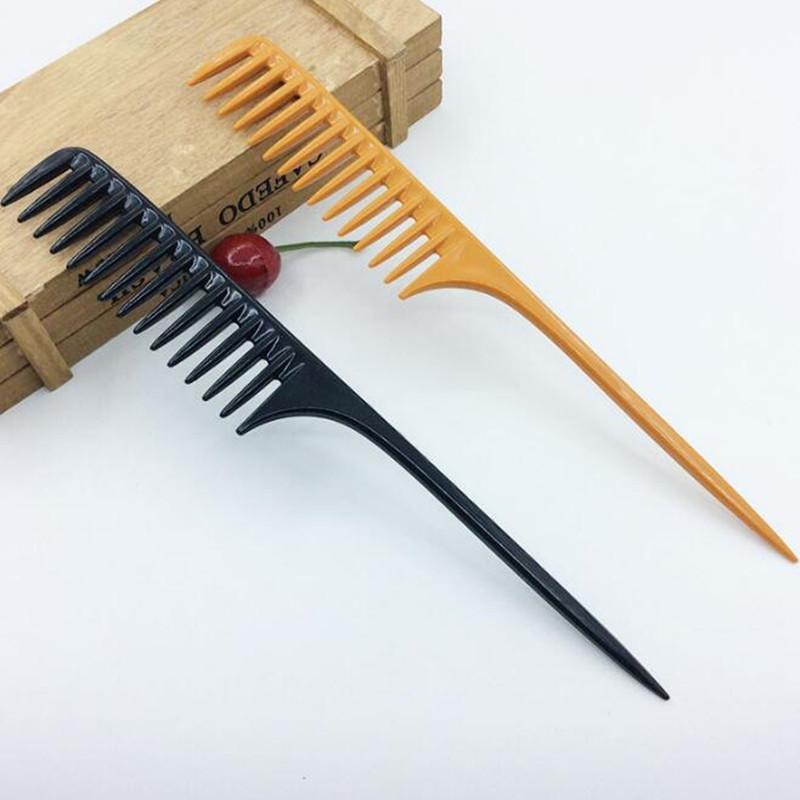2 farben professionelle spitze schwanz kamm für salon friseur abschnitt haarbürste friseur werkzeug diy haar breite zähne kämme