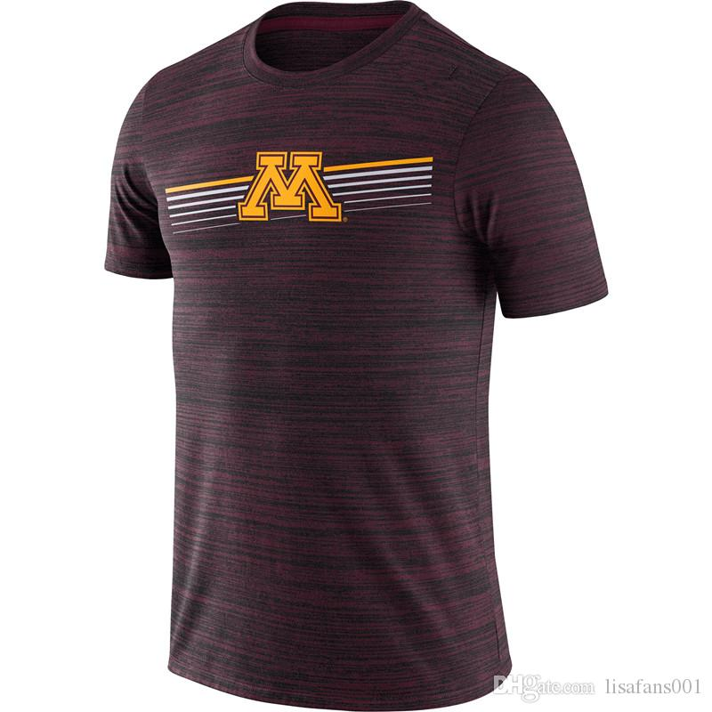 Minnesota Golden Gophers Velocity Legend Performance T-Shirt Short Sleeve O-Neck Tee Printed Team Sports Tshirts Size S-4XL