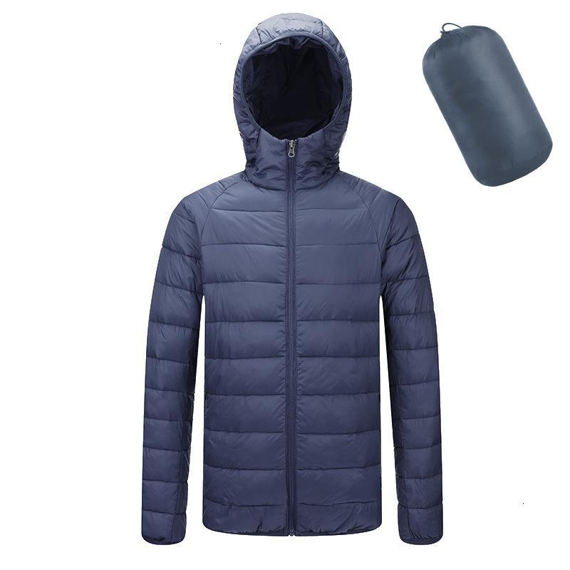 Winter Jacket Men Ultraleve revestimento encapuçado bolha Parkas Homens casaco quente Man inverno Brasão de alta qualidade Male ClothesXL