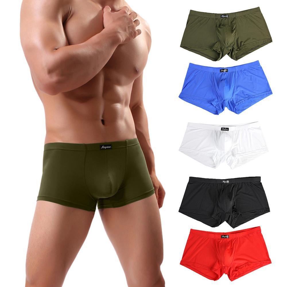 iç çamaşırı Erkek Erkek İç Çamaşırı Boksörler Erkekler Seksi Harf Baskılı Boxer 4. Şort Bulge Kılıfı Külot nefes giysi