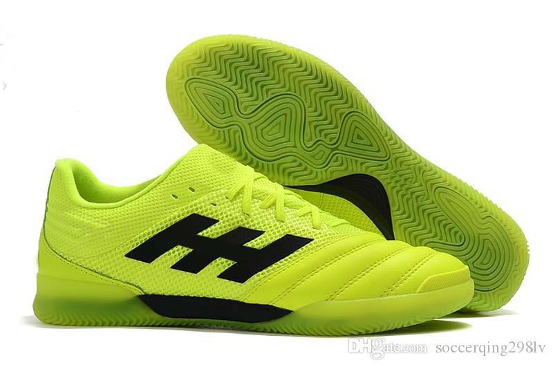 Boutique 2019 Mensfußballschuhe Copa 70Y FG / TF / IC Indoor Fußballschuhe Copa Mundial Grün Schwarz Fußballschuhe scarpe