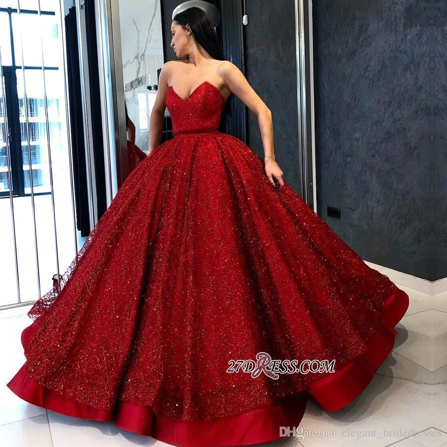 Vestido de fiesta rojo oscuro Cuello en V profundo Vestidos largos de baile 2019 Lentejuelas con cuentas Satén Fiesta formal Vestidos de noche Ropa de desfile de celebridades