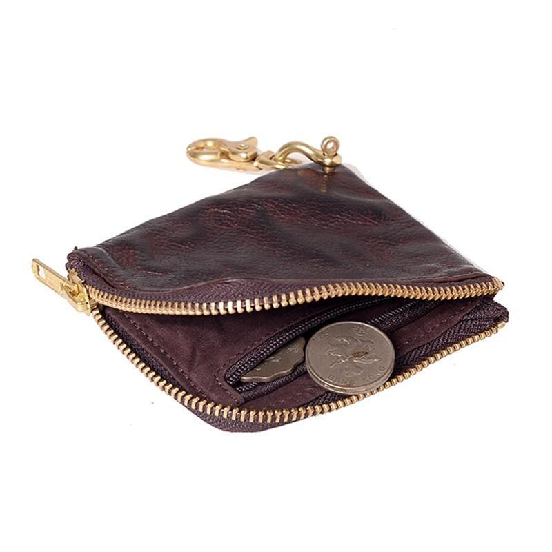 Designer-AETOO cuir fait main petit homme tendance rétro portefeuille à court portefeuille ultra-mince petit sac clip zipper money