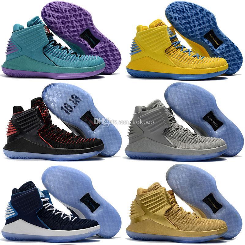 Pure Platinum Jumpman 32 32s Homens Crianças tênis de basquete CNY cinzento de Camo MVP Preto Azul Vermelho porque não Rosso Corsa Bred multicolor Sneakers Desporto