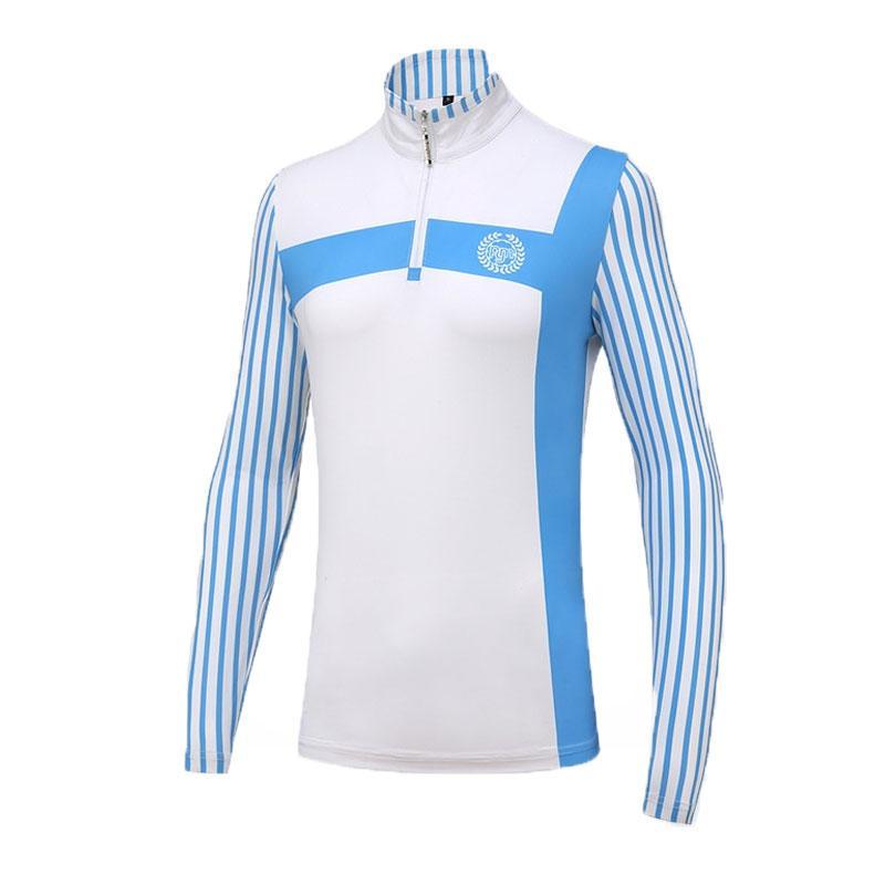 Pgm Femmes d'été respirant à manches longues T-shirts femme Zippé Uv Protection Vêtements de golf Femme Sous-vêtements Slim Chemise de golf AA60471