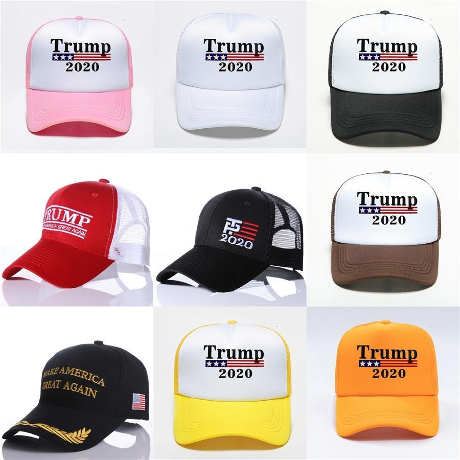 Trump Fashion 2020 Baseball Hat Usa Drapeau de broderie Cao Hommes Sport Camping Adjustabll balle Chapeaux Femme Voyage Cap Sun Lxl1293A # 785
