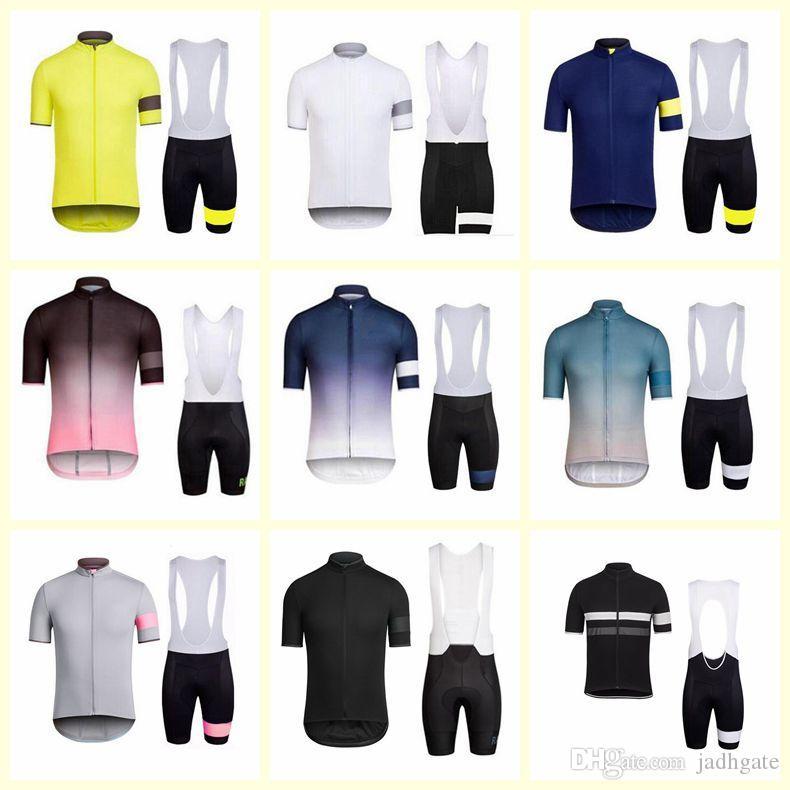 RAPHA team Cycling Short Sleeves jersey bib shorts sets Breathable Short Sleeve MTB Mountain Bike Jersey Bicycle Clothing women D2018