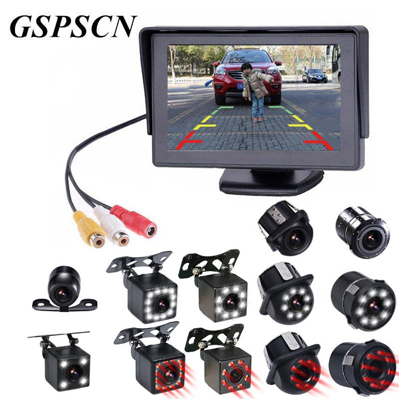 GSPSCN Autozubehör Rückfahrkamera-Parken-Unterstützungs Reaverse Kamera mit wasserdichter Nachtsicht für Auto-DVD-Monitor-Spiegel
